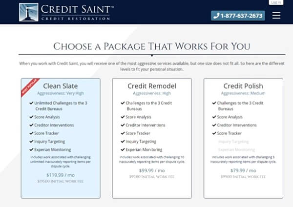 How Much Does Credit Saint Cost